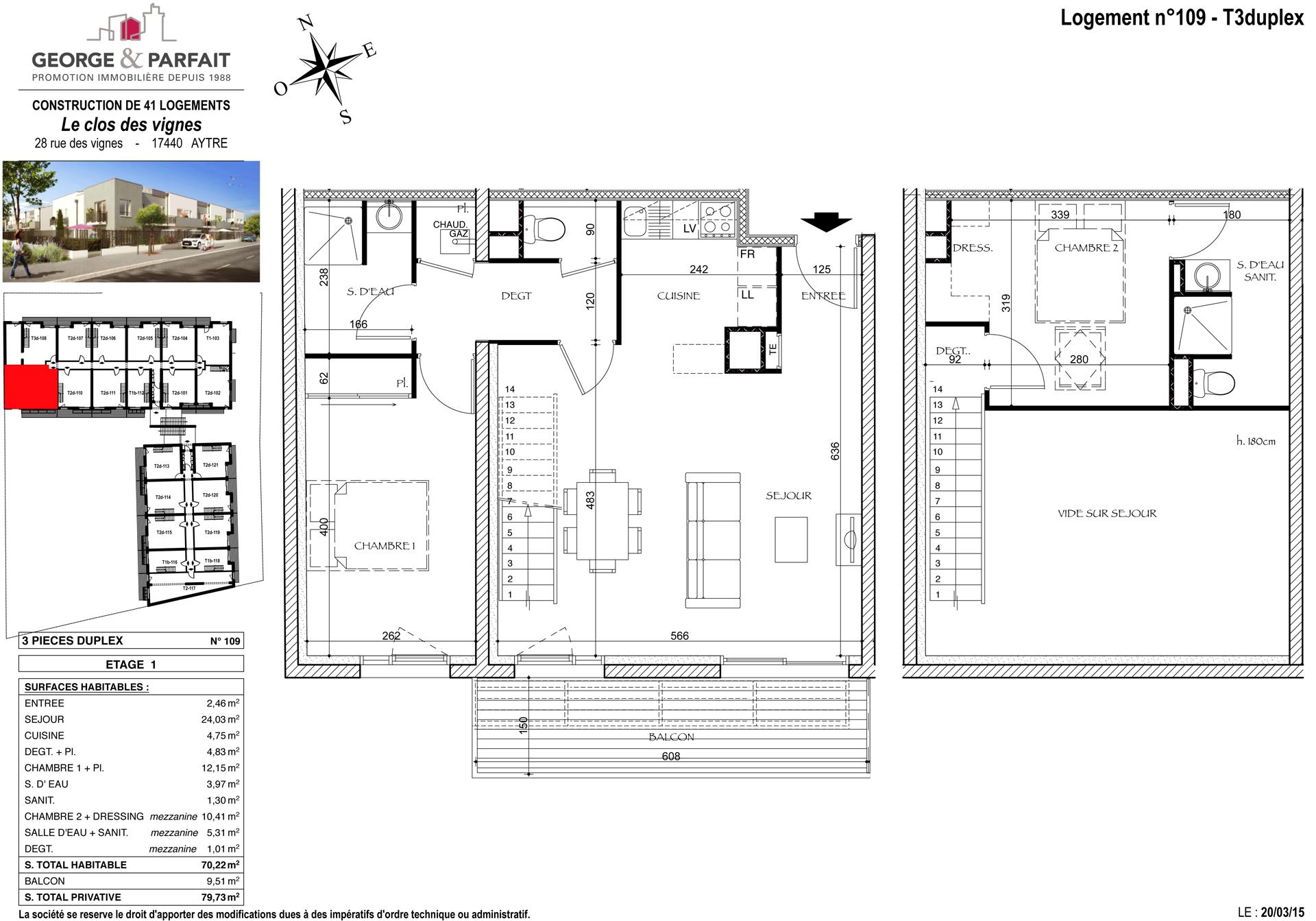 Visite 3d de l 39 appartement neuf 109 en vente aytr for Cuisine 3d aytre
